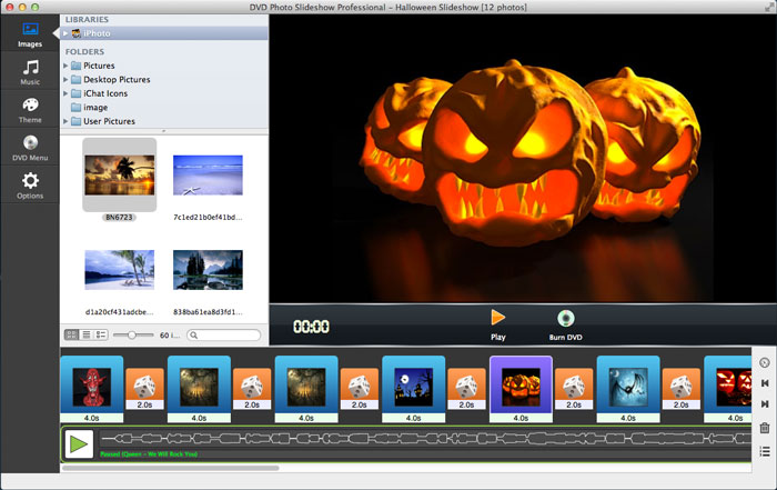 add pictures to Halloween slideshow