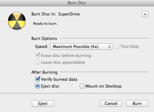 burn iPhoto slideshow to DVD