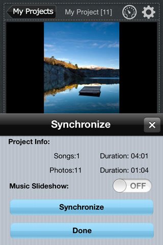 sync music with slideshow