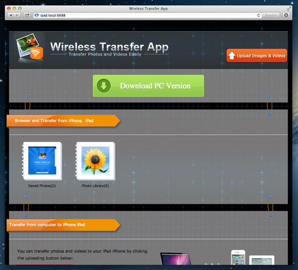 transfer videos from ipad to mac
